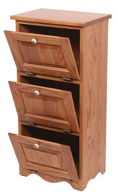 Picture of Solid Wood Potato Bin-Flat Top