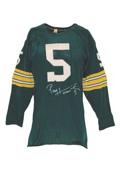 ba0fa3824d7e Early 1960s Paul Hornung Green Bay Packers Game-Used   Autographed Home  Jersey