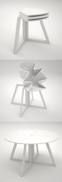 Lindstrom & Stromgren's amazing folding-map-inspired table