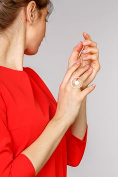 Minimalist Architectural Jewelry - Ouragan Ring in 18K Gold Plated Sterling Silver by MOPHT Studio