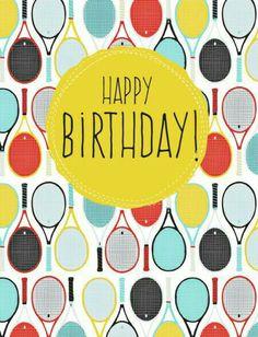 Happy birthday, amico tennista!