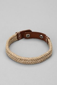 Leather And Twine Cuff Bracelet