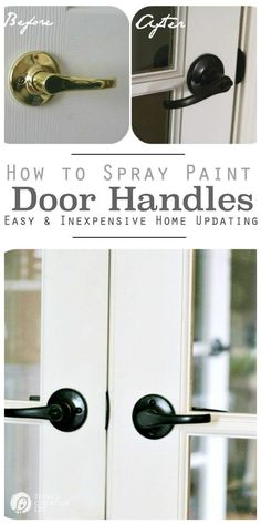 Spray Painting Door KnobsHow to paint hardware  and make it last   Oil rubbed bronze  . Diy Paint Car Door Handle. Home Design Ideas