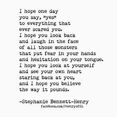 I hope one day.