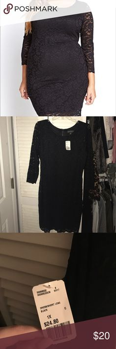 NEW Forever 21+ Plus Size Lace Dress Body con dress so there's lots of stretch. Black lined dress. New with tags. No flaws. Zips up in the back Forever 21 Dresses Mini