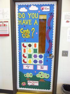 Valentine's Day themed classroom door