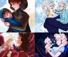 My child, things change when the years go by, yourself included. Jack Y Elsa, Jack Frost And Elsa, Disney Princess Frozen, Disney Princess Drawings, Cute Disney, Baby Disney, Disney Crossovers, Girly Drawings, Disney Images
