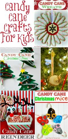 Candy Cane Crafts - Christmas Crafts For Kids