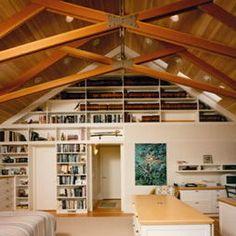 Open Truss Ceiling Design,V & Company, Fine Builders, Houzz.com