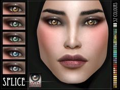 Splice Eyes for The Sims 4  Found in TSR Category 'Sims 4 Female Costume Makeup'