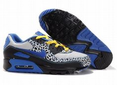 low priced 8535b 0b6dd Nike Air Max 90 Grey Royal Blue Black