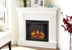 One of the greatest white electric fireplaces