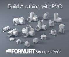 How to build anything with PVC.FORMUFIT PVC Plans Library Get Inspiration to build your ideas. Or just build ours. FREE PLANS: