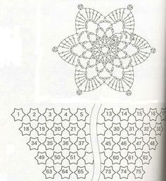 chart for shawl unit chal crochet pattern