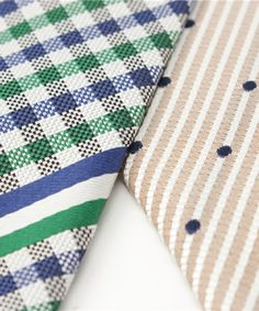 Necktie(ネクタイ)のリバーシブルレジメンギンガムタイ GREEN(ネクタイ) 詳細画像