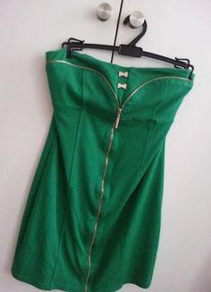 Kup mój przedmiot na #vintedpl http://www.vinted.pl/damska-odziez/krotkie-sukienki/10877513-zielona-sukienka-mini