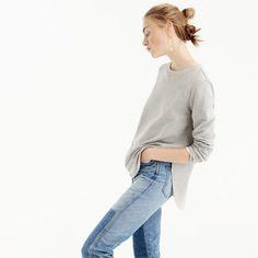 round hem sweatshirt tunic : women sweatshirts