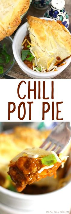 the kids devoured this!!! - CHILI POT PIE #chili #potpie #dinnerideas