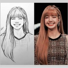This Illustrator Sketches People As Anime Character And The Result Is Impressive ⋆ Anime & Manga- Cute Sketches, Girl Drawing Sketches, Art Drawings Sketches Simple, Pencil Art Drawings, Drawing Artist, Sketch Art, Pink Drawing, Kpop Drawings, Korean Art
