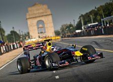 Daniel Ricciardo with Red Bull Racing in Delhi, India, 01 October 2011  © Red Bull