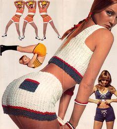 Crochet hot pants… 1970s