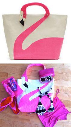truebluemeandyou: DIY Kate Spade Knockoff Flamingo Tote. I'm...