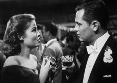"""""""Sunset Boulevard"""" Nancy Olson and William Holden 1950...was there anything more glorious than William Holden in a tuxedo????"""