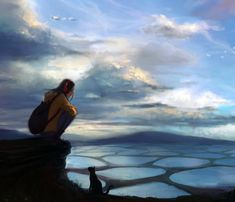 Let's take a break     Katrina Lin is a digital artist from Canada. She created an epic serie of characters and landscape.