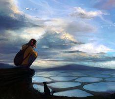 Let's take a break, Digital Paintings by Katrina Lin