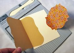 card-making photo tutorial from Out To Impress: A new twist on a joy fold! ... a latch ...