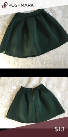 Hunter Green Skater Skirt Brand new! Never worn! Bought from Charlotte Russe - received as a gift. Smoke free home. NO TRADES Charlotte Russe Skirts Circle & Skater