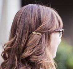 DIY Wordy Hairpins