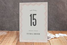 Shine Foil-Pressed Wedding Table Numbers