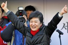 South Korea's new elected President Park Geun-hye spoke of a grave security challenge from North Korea but called for trust-based dialogue