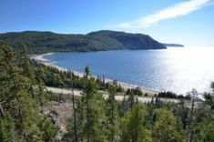 Lake Superior Provincial Park is a 600 square kilometre park located along Highway 17 between Sault Ste Marie and Wawa, Ontario. Sault Ste Marie, Thing 1, Lake Superior, Ontario, Canada, Camping, Mountains, Park, Beach