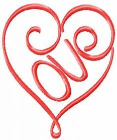 Pink Valentine heart free embroidery design. 3.29 x 393, search 'lovehear1'