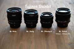 Fujinon Quintet : XF16mm, XF23mm,XF35mm, XF56mm & XF56mm APD