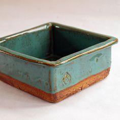 Pottery dish handmade stoneware. $26.00, via Etsy. glaze!