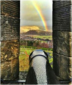 Rainbow from Sterling Castle