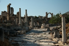 Morning View of #Roman roadway at #Ephesus, #Turkey