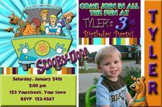 Scooby Doo Birthday Party Invitation Digital by DazzelPrintz