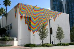 Museum of Art Fort Lauderdale - Jen Stark's mural.  I helped to plan events for the museum and really loved all the exhibits.