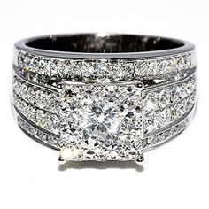 1.75ct Diamond Wedding Ring 3 in 1 style Princess cut style Round diamond Top Big Ring 14K White gold Rings-MidwestJewellery.com http://www.amazon.com/dp/B00L1H56EG/ref=cm_sw_r_pi_dp_Cgk-ub193PC2H