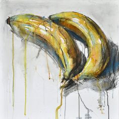 Benedicte Gele Painting Still Life with Bananas 2 Watercolor Chalk Pastel and Gesso on Canvas and Paper Still Life Drawing, Painting Still Life, Decay Art, Natural Form Art, Gcse Art Sketchbook, Fruit Painting, Watercolor Painting, Pastel Watercolor, Chalk Painting