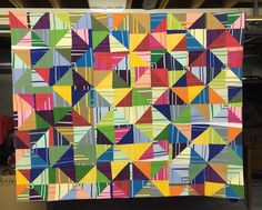 Line Study 12  ©2016 Peggy Black Fabric, thread 48 x 76 inches