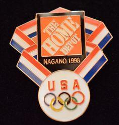 Home Depot Olympic Pin Nagano 1998