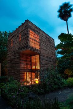 ... Natural Look : Natural House Beuatiful Look Flat Roof Stunning Plants