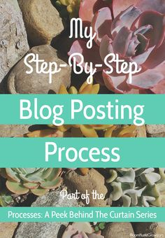 This is the step by step process of how I craft a blog post. Make sure to grab the tips on how to create document your own process and grab my checklists to get your own blog posting system started.