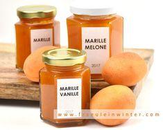 Marillenmarmelade | Fraeulein Winter  #apricotjam #marillenmarmelade #selbermachen #einkochen #marmelade Cantaloupe, Fruit, Food, Vanilla, Blackberries, Harvest, Apple, Make Your Own, Food Food