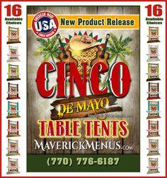 12 Best Cinco De Mayo Wooden Table Tents Maverickmenuscom